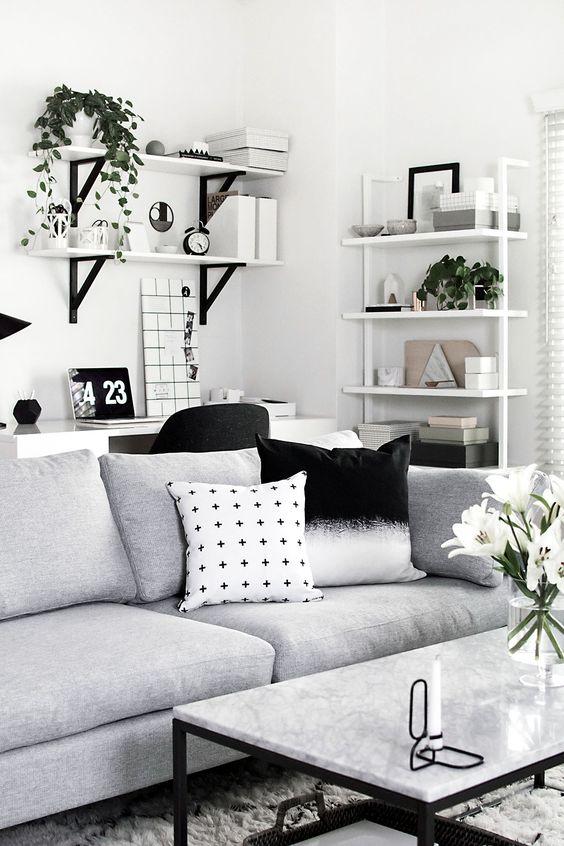 хол в бяло сиво и черно