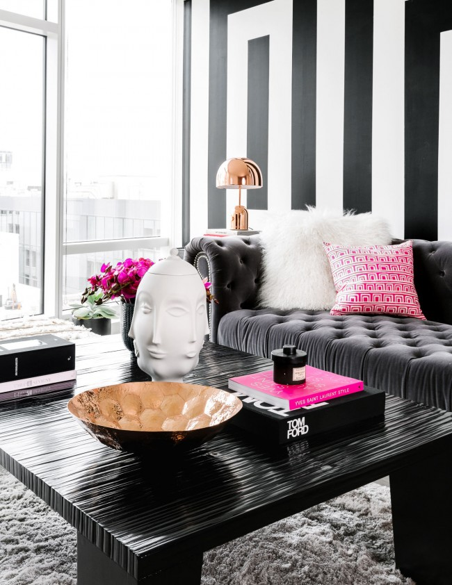 дизайн в черно и розово