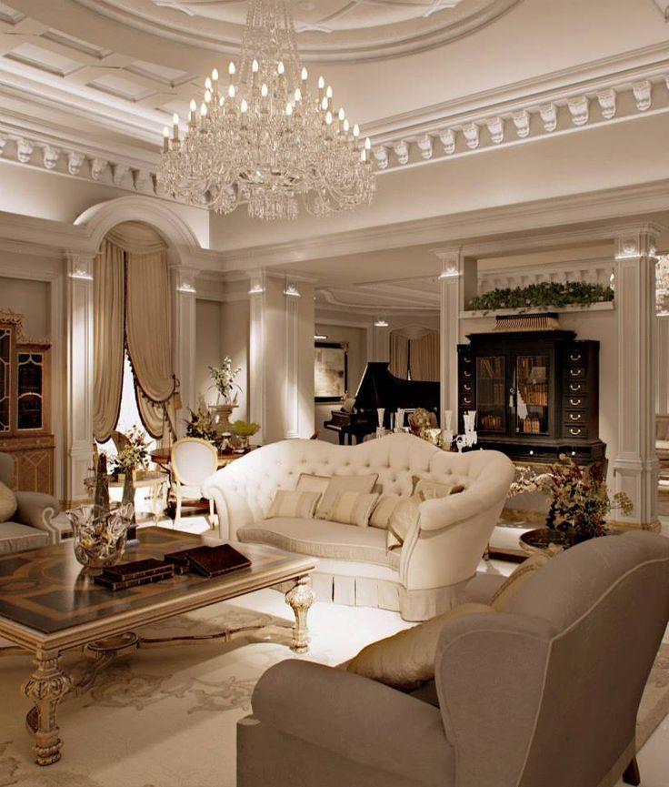 Мебели за дневна в класически стил: в търсене на границите между луксa и кичa