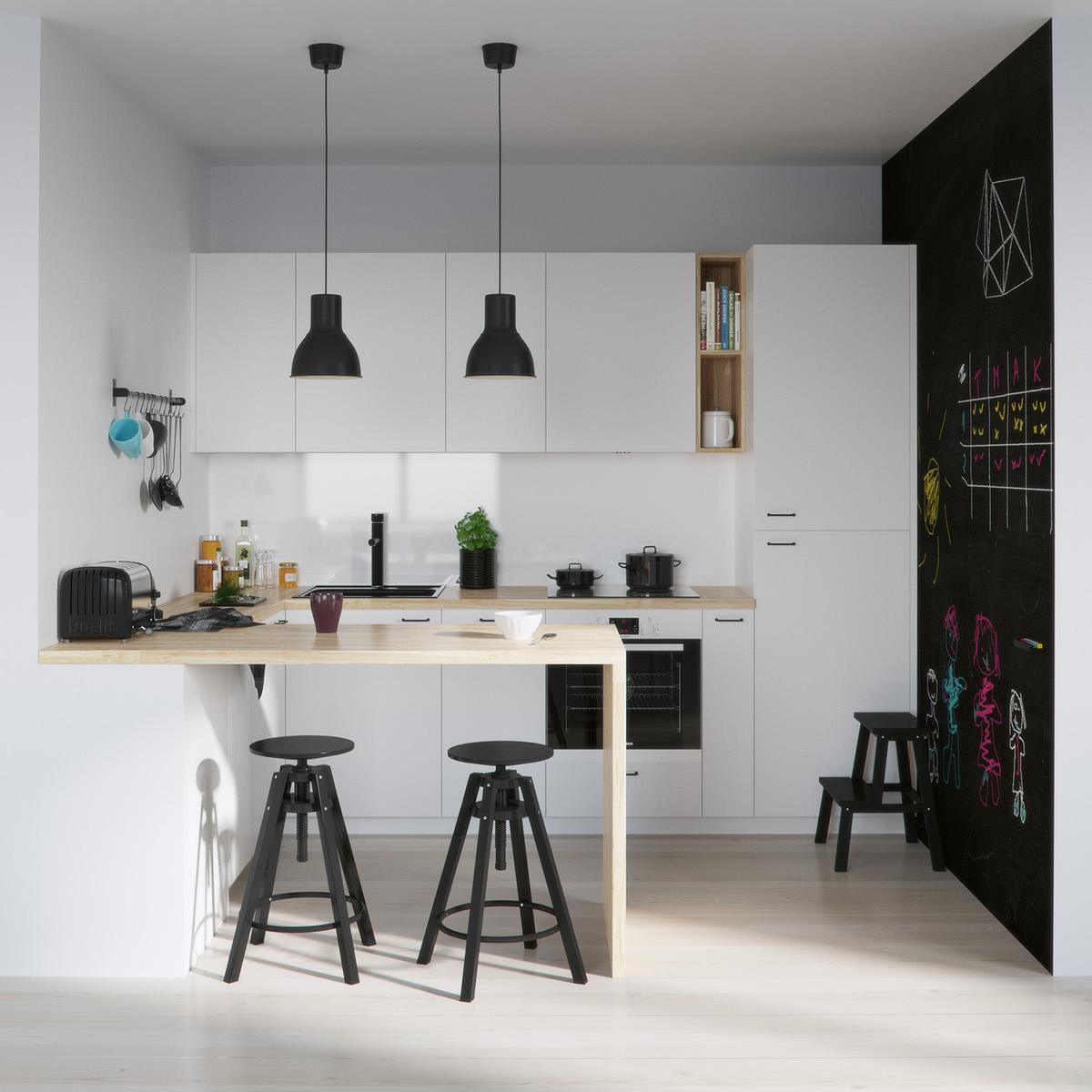 Красиви кухни в черно и бяло