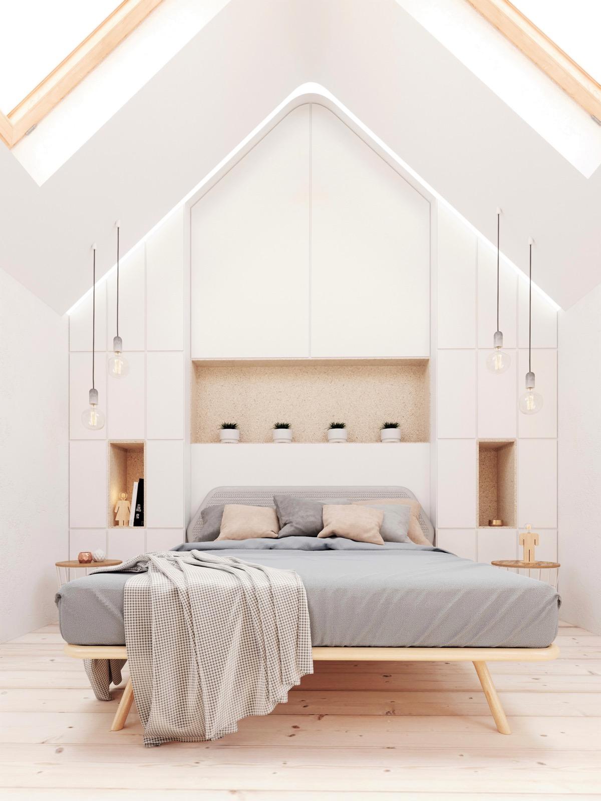 Бели спални които излъчват спокойствие