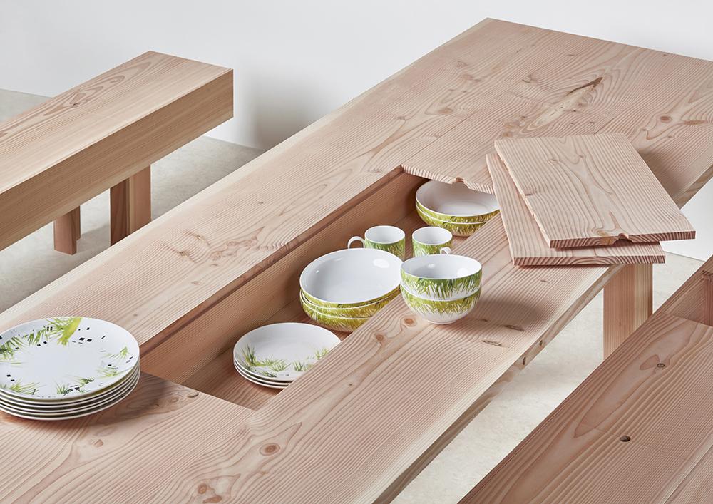 Planks : колекция мебели с място за съхранение на съдове