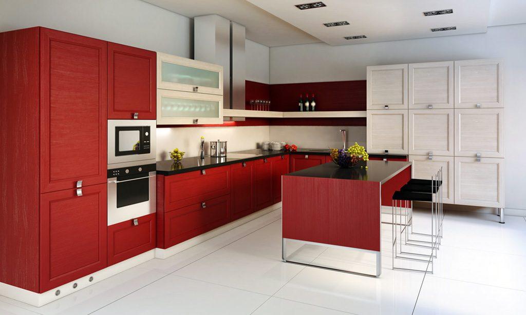 Комбинацията от цветове в интериора на кухнята