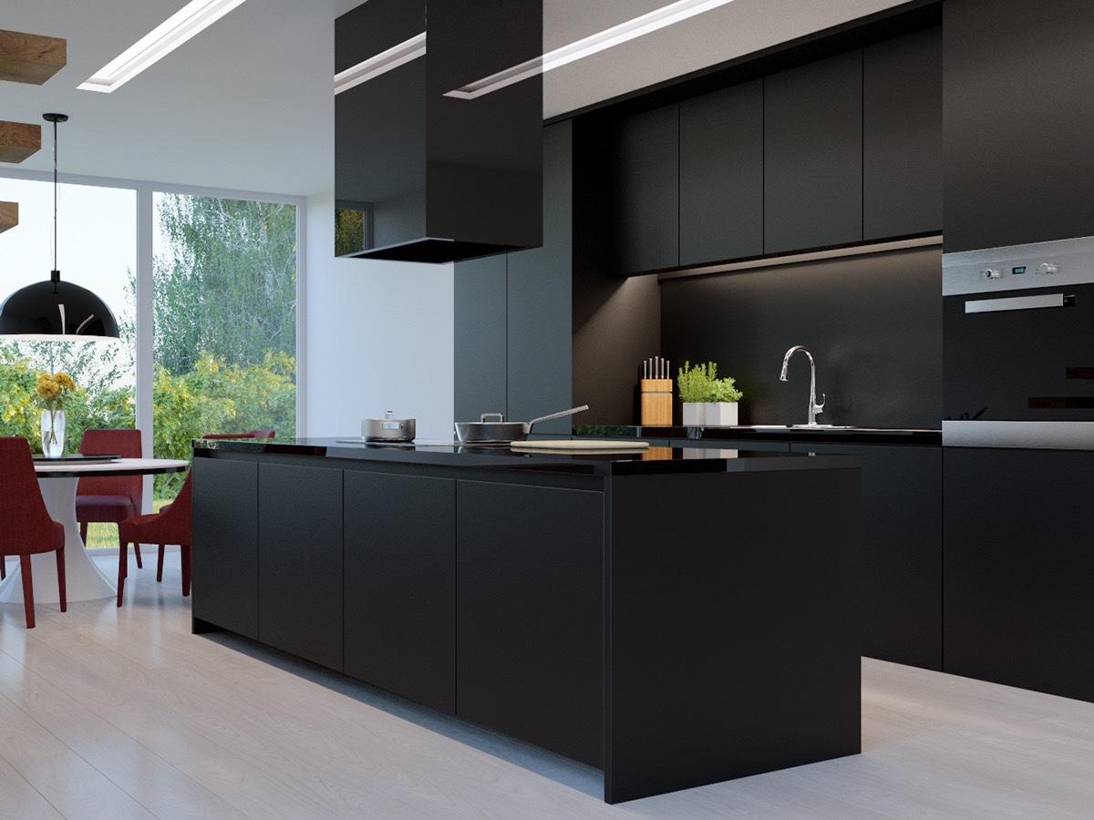 Зашеметяващи черни кухни