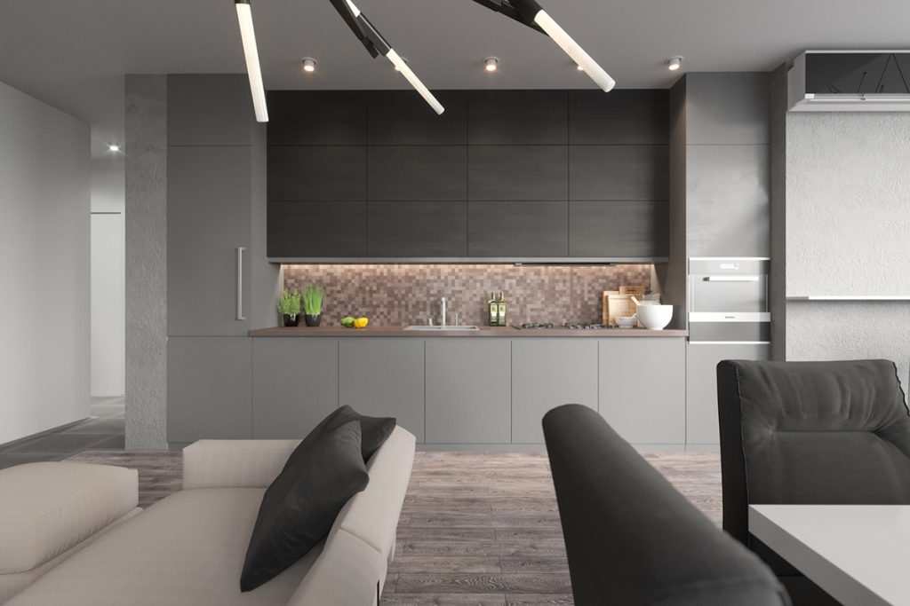 gray-and-copper-kitchen-LED-lights