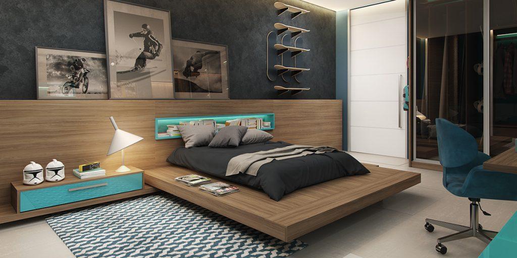 Contemporary-platform-bed