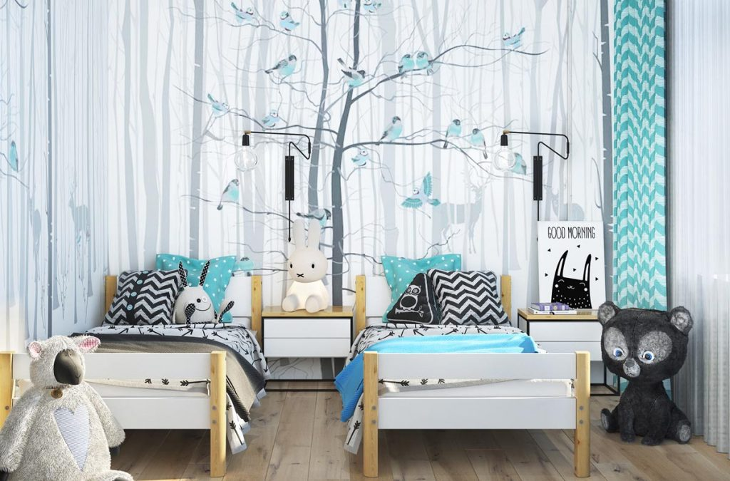 teal-white-bedroom